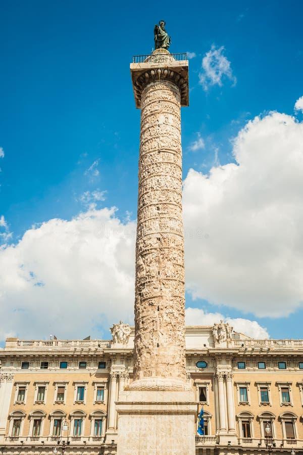 Spalte von Marcus Aurelius stockbilder