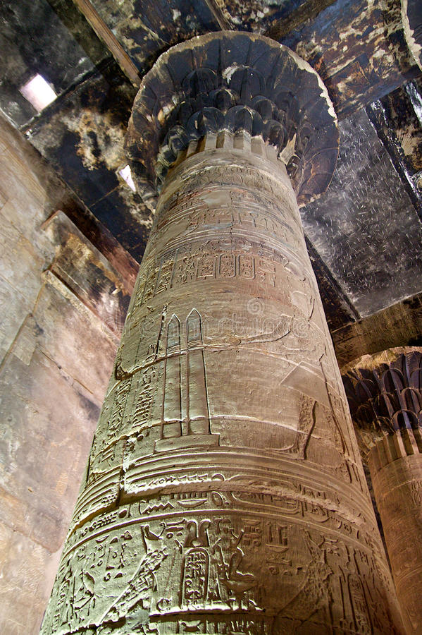 Spalten in Ägypten lizenzfreies stockbild