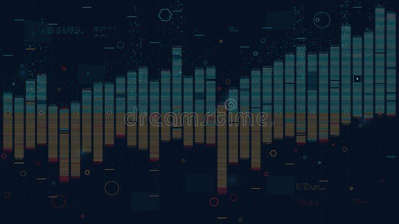 Spalten-Balkendiagrammdia der kommerziellen Daten, Analyse der Finanzstatistik, kreatives Konzept für Darstellung lizenzfreie abbildung