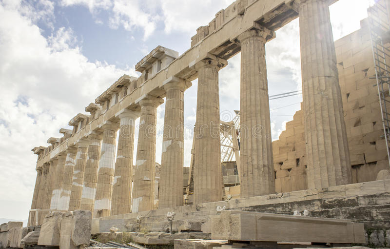 Spalten der Akropolises stockfotografie