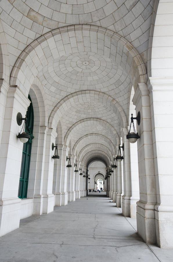 Spalten der Anschluss-Station im Washington DC USA lizenzfreies stockbild
