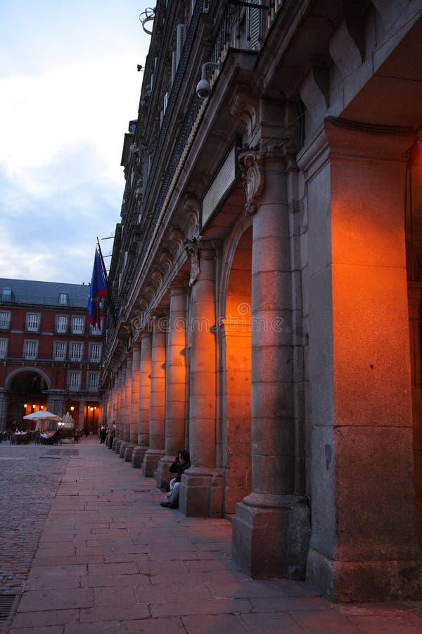 Spalten des Piazza-Bürgermeisters lizenzfreie stockfotos