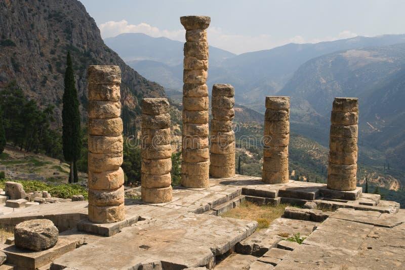 Spalten des Tempels von Apollo lizenzfreies stockbild