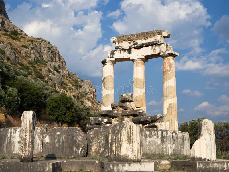 Spalten griechisch in Delphi stockfotografie