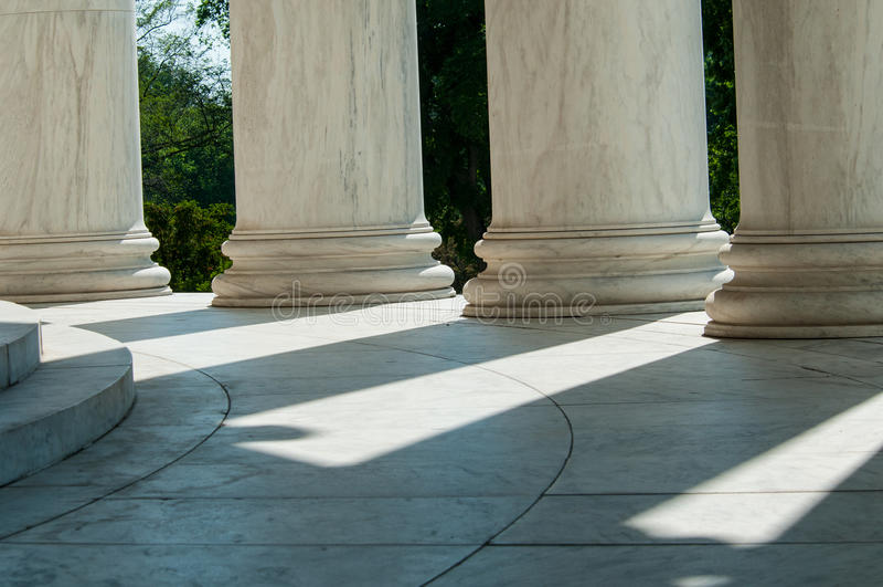 Spalten Jefferson Memorial stockfoto
