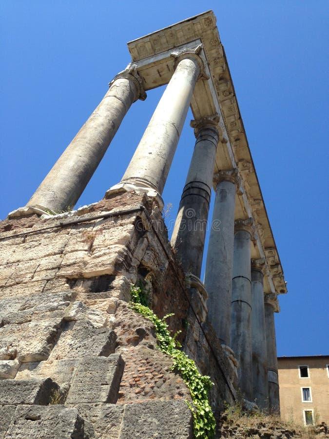 Spalten in Rom stockbilder