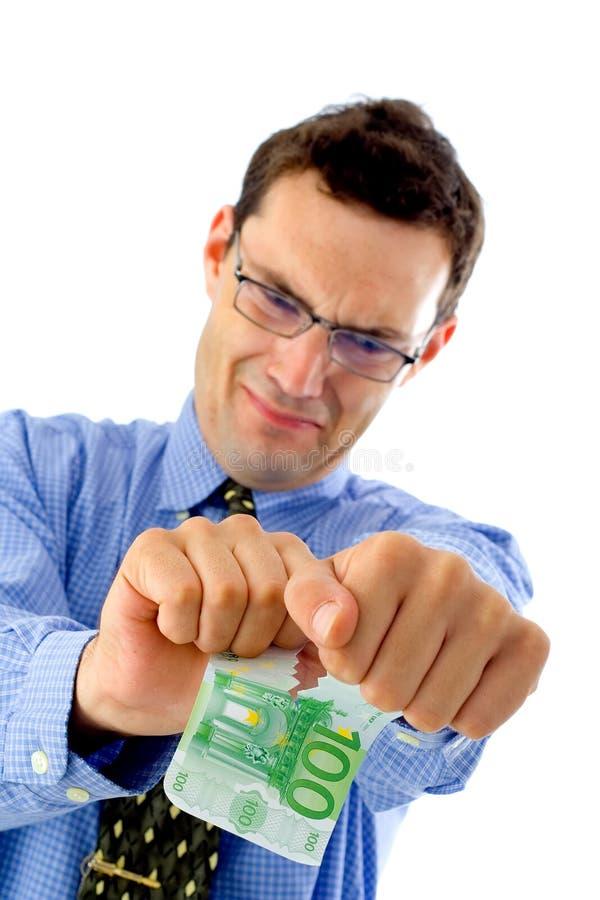 Spalten Sie das Geld auf lizenzfreies stockbild