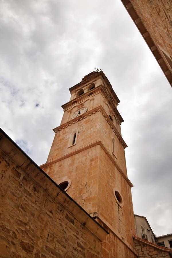 Spalten Sie sich, Kroatien - Heiliges Domnius-Kathedralen-Turm auf stockfoto