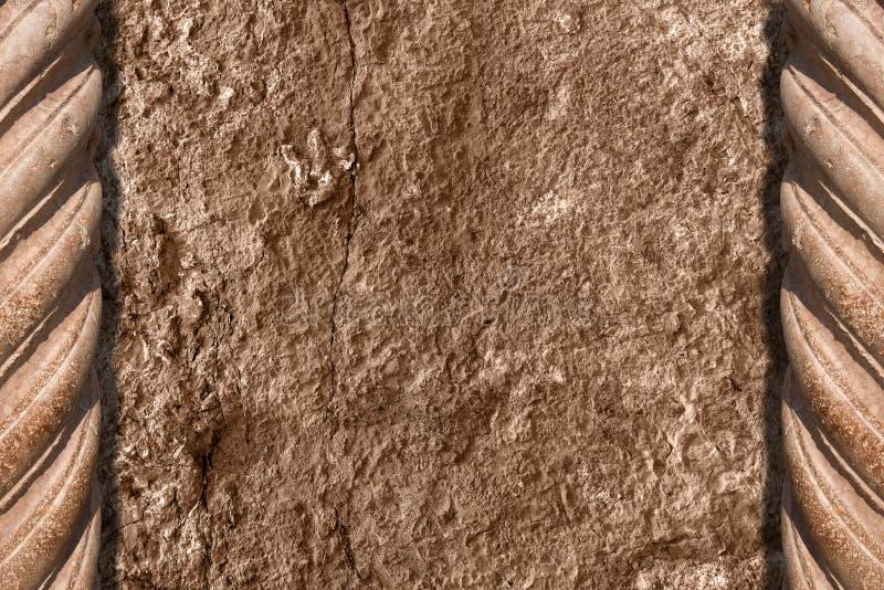 Spalten und Steinhintergrund stock abbildung