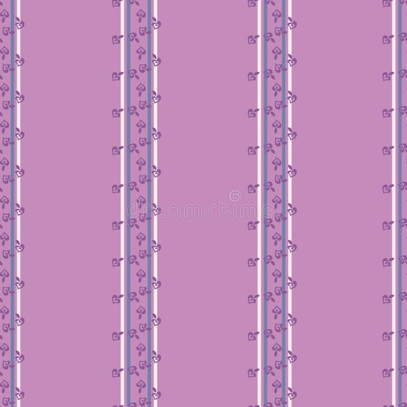 Spalten von purpurroten Blumen auf hellpurpurnem stock abbildung