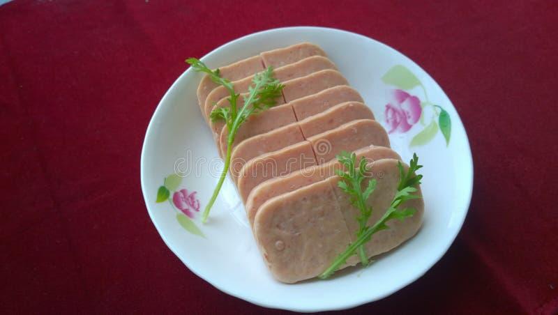 Spam (carne do almoço) imagens de stock