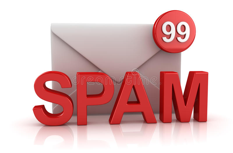 Spam Concept with Envelope stock illustration