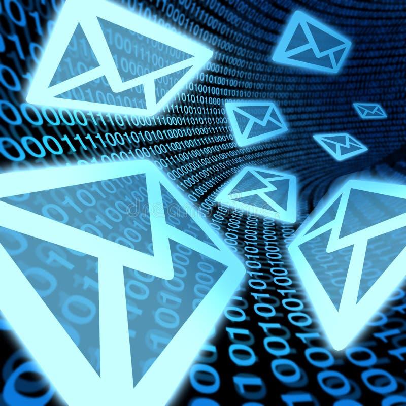 Spam de la promoción de las comunicaciones de la transferencia de datos del email stock de ilustración
