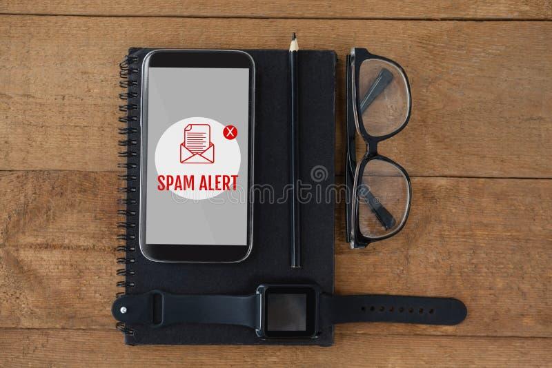 Spam del correo electrónico en la pantalla foto de archivo libre de regalías