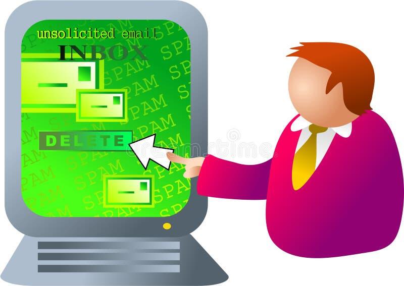 Spam del ordenador ilustración del vector