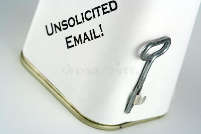 Spam e-mail royalty-vrije stock afbeeldingen