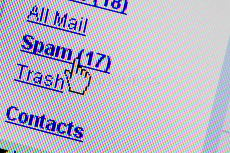 Spam email mailbox folder royalty free stock image