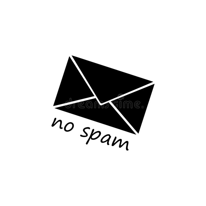 Spam letter icon. Simple glyph vector of universal set icons for UI and UX, website or mobile application. On white background stock illustration