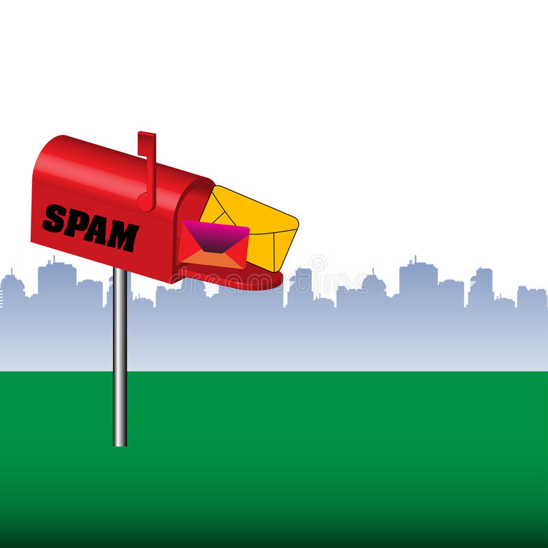 Spam Mailbox Royalty Free Stock Photography