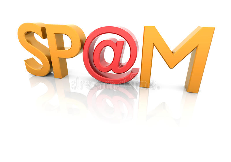 Spam sign royalty free stock photo