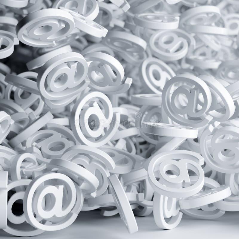 Spama emaila pojęcie royalty ilustracja
