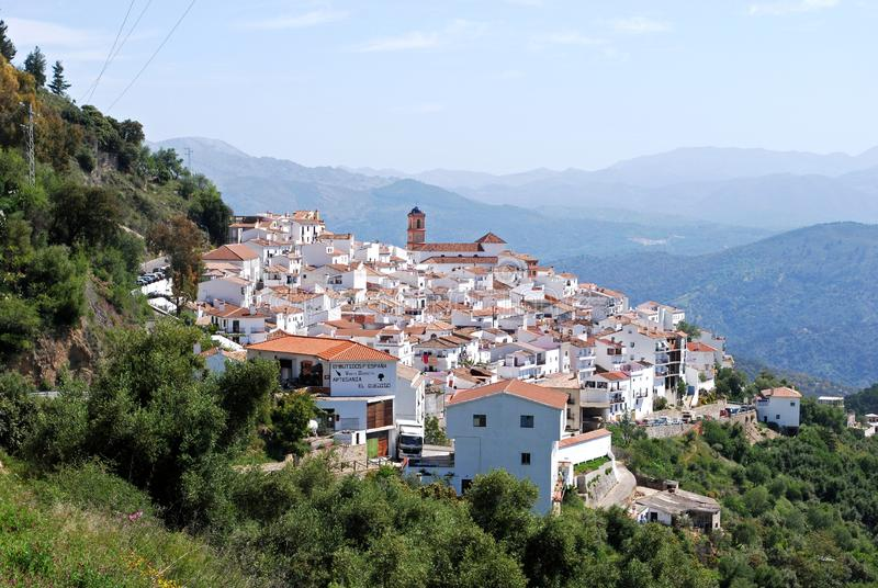 Traditional Spanish town in the mountains, Algatocin, Spain. royalty free stock photos