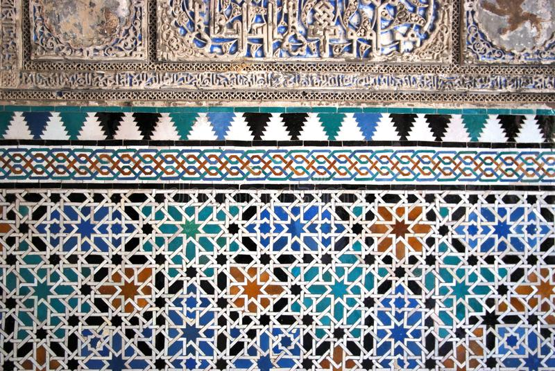 Wall in the Palace of Pedro the Cruel, Castle of the Kings, Seville. Decorative wall inside Palace of Pedro the Cruel in the Castle of the Kings, Seville stock photo