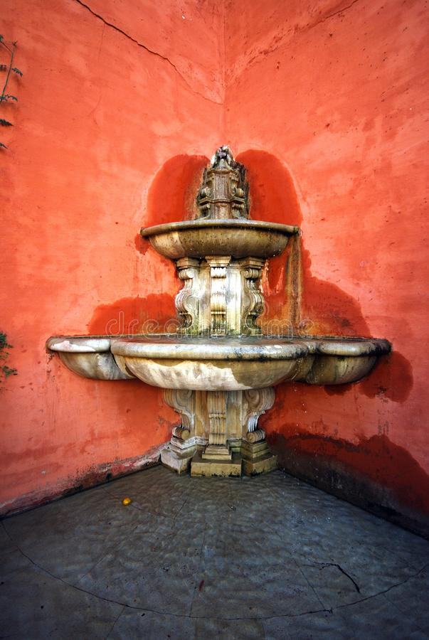 Ornate fountain, Seville, Spain. Fountain in passageway between the Plaza Triunfo and the Plaza Dona Elvira, Seville, Seville Province, Andalusia, Spain, Europe stock photography