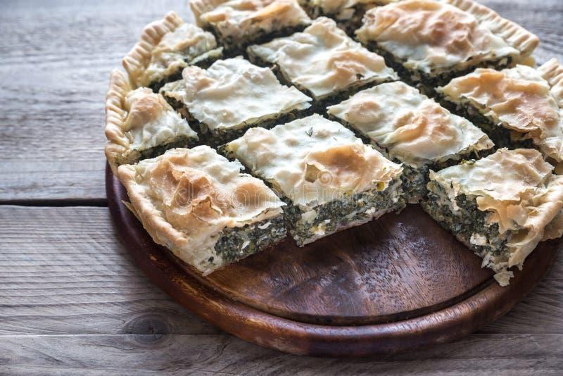 Spanakopita -希腊菠菜饼 库存照片