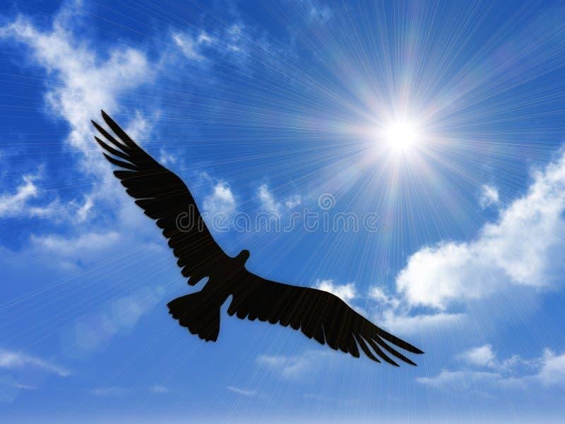 Spanda l'ala e voli nella libertà illustrazione vettoriale