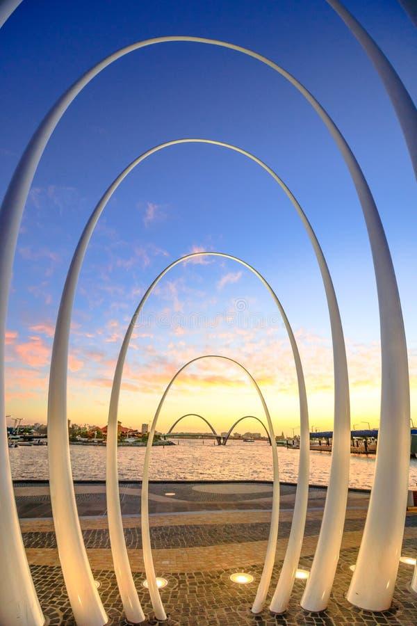 Spandabeeldhouwwerk in Perth stock fotografie