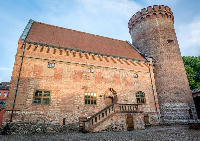 Spandau citadell (Spandauer Zitadelle) i Berlin, Tyskland royaltyfri fotografi