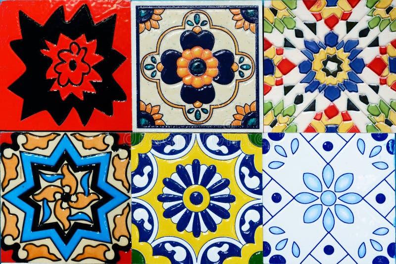 Spanich摩洛哥样式葡萄酒陶瓷砖 免版税库存照片