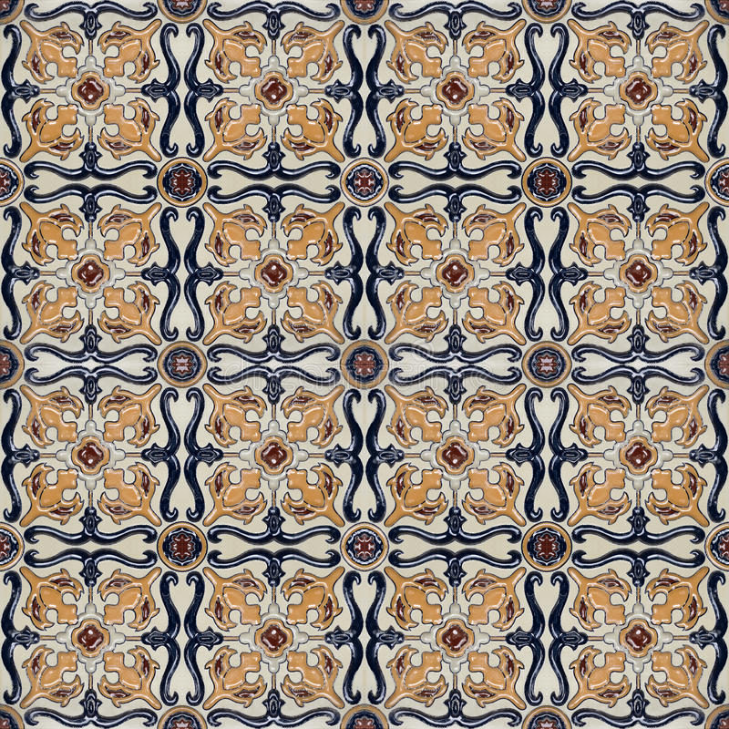 Spanich Moroccan style vintage ceramic tile stock photography