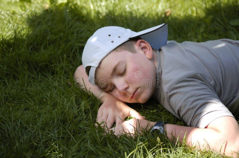 spanie w ogrodzie fotografia stock