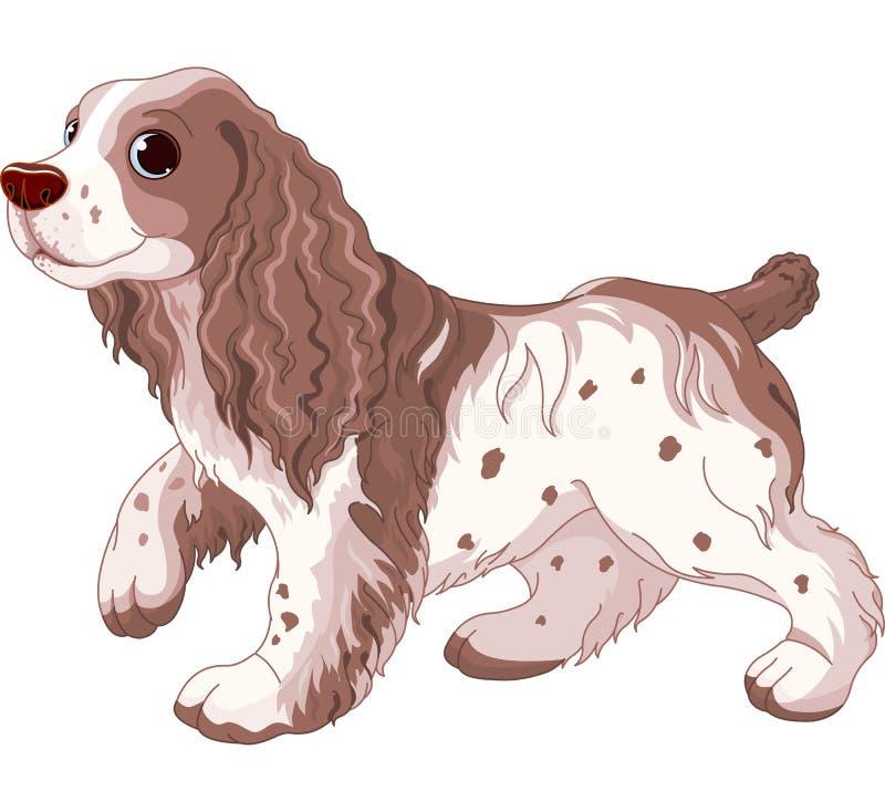 Spaniela pies royalty ilustracja