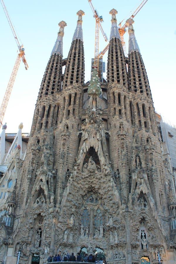Spanien Barcelona Sagrada Familia royaltyfri fotografi