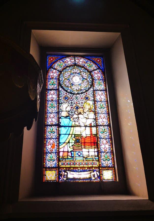 Spanien, Barcelona, Santa Maria de Montserrat'  det  Ž Abbey arkivbilder