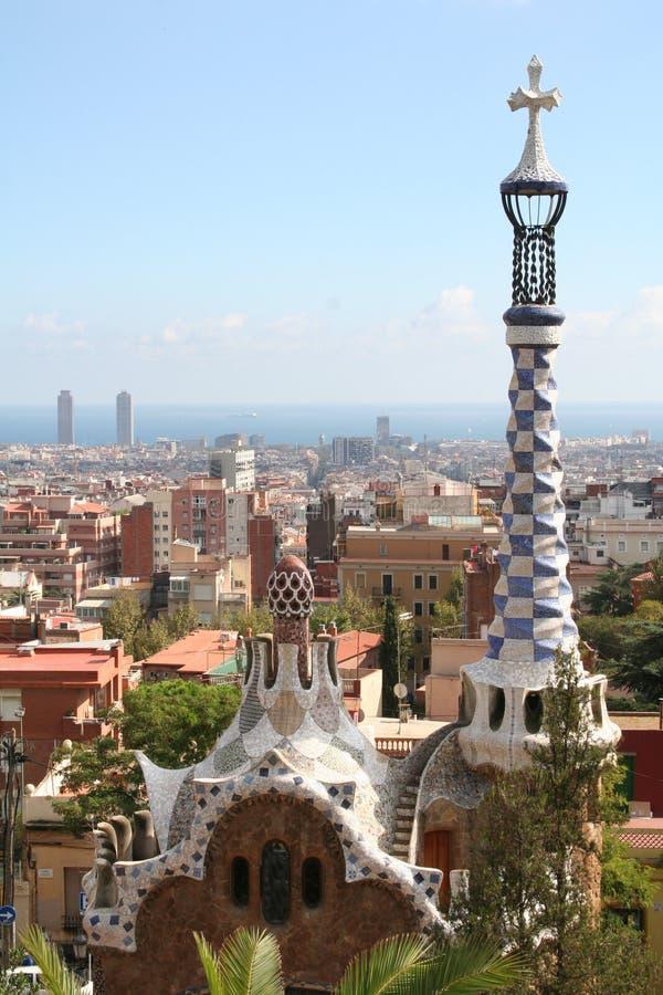 Spanien. Barcelona-Stadt. Gebäude durch Gaudi stockfotos