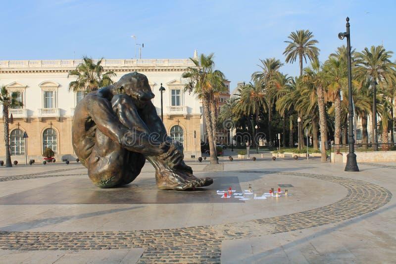 Spanien Cartagena staty royaltyfri fotografi