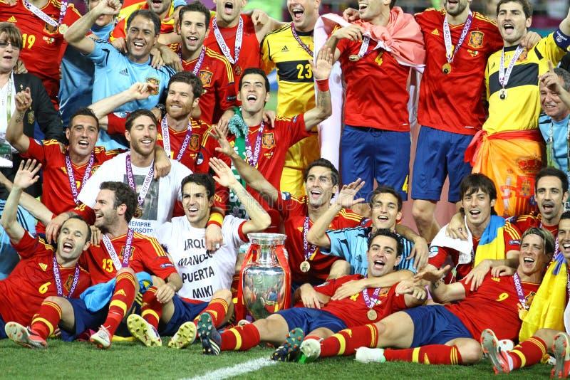 Spanien - der Sieger von UEFA-EURO 2012 stockbild
