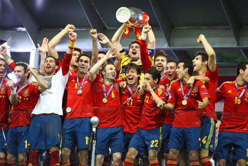 Spanien - der Sieger von UEFA-EURO 2012 lizenzfreies stockfoto