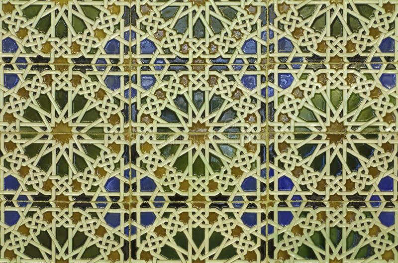 Spanien - Wand Tiling in der Mudejar Art lizenzfreies stockbild