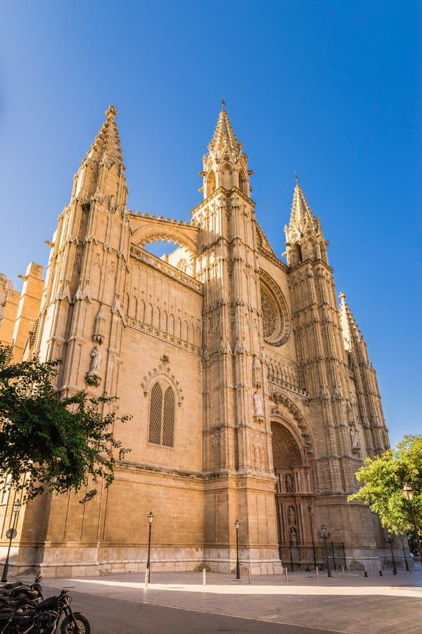 Spanien domkyrkaLa Seu i Palma de Majorca arkivbild
