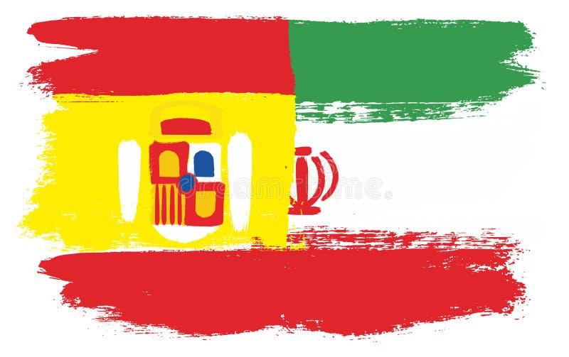 Spanien flagga vektor illustrationer