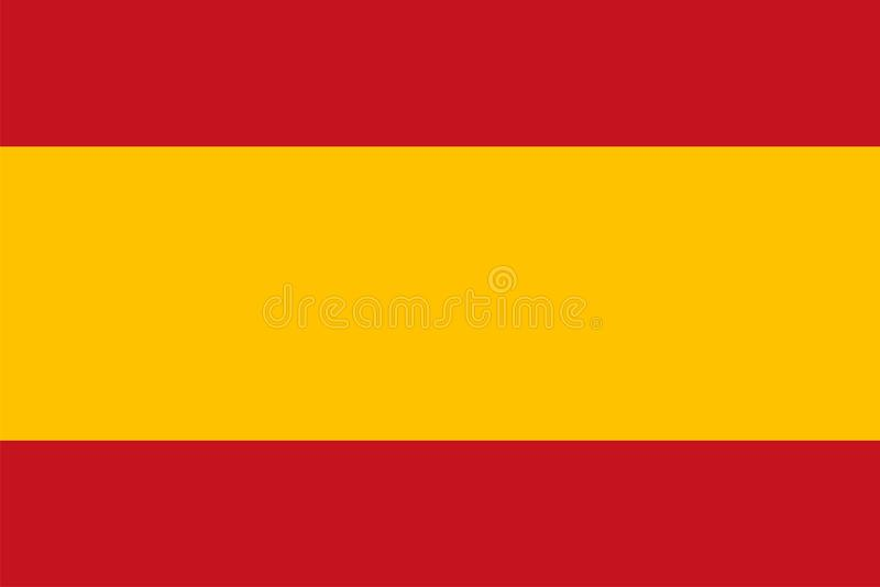 Spanien flagga royaltyfri illustrationer