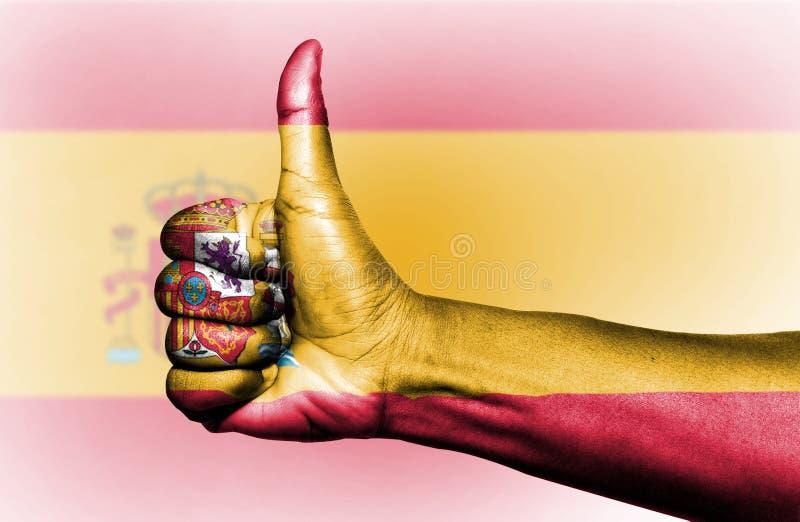 Spanien flagga royaltyfria bilder