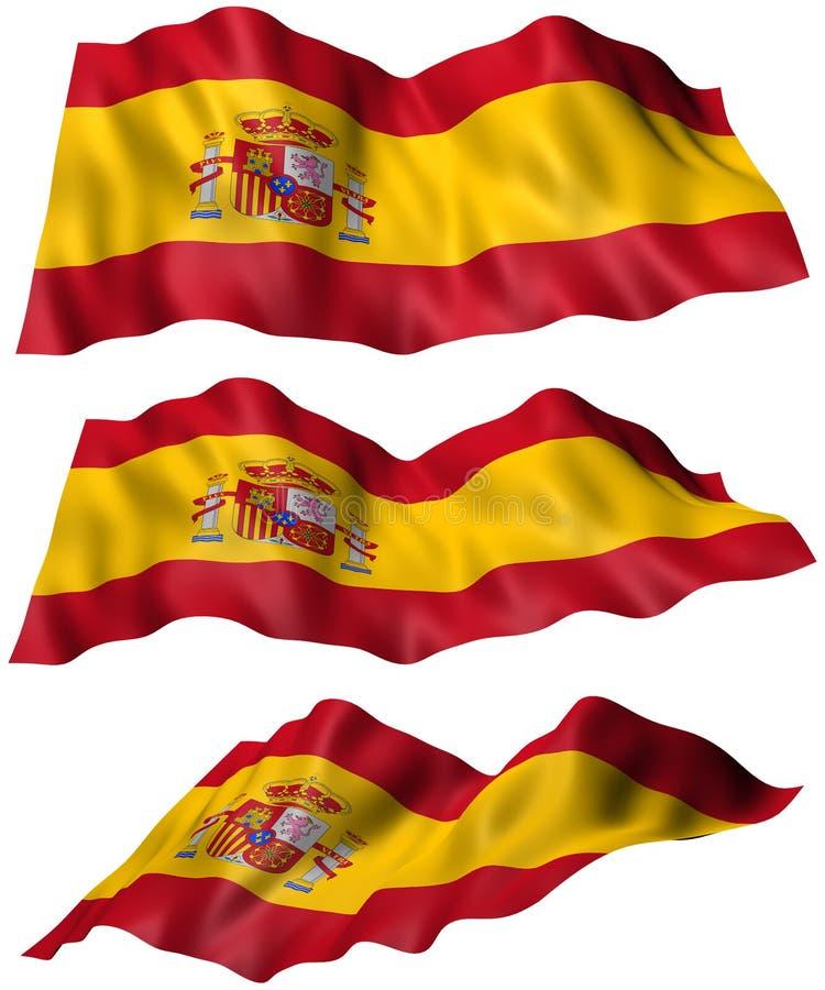 Spanien-Flagge lizenzfreie abbildung