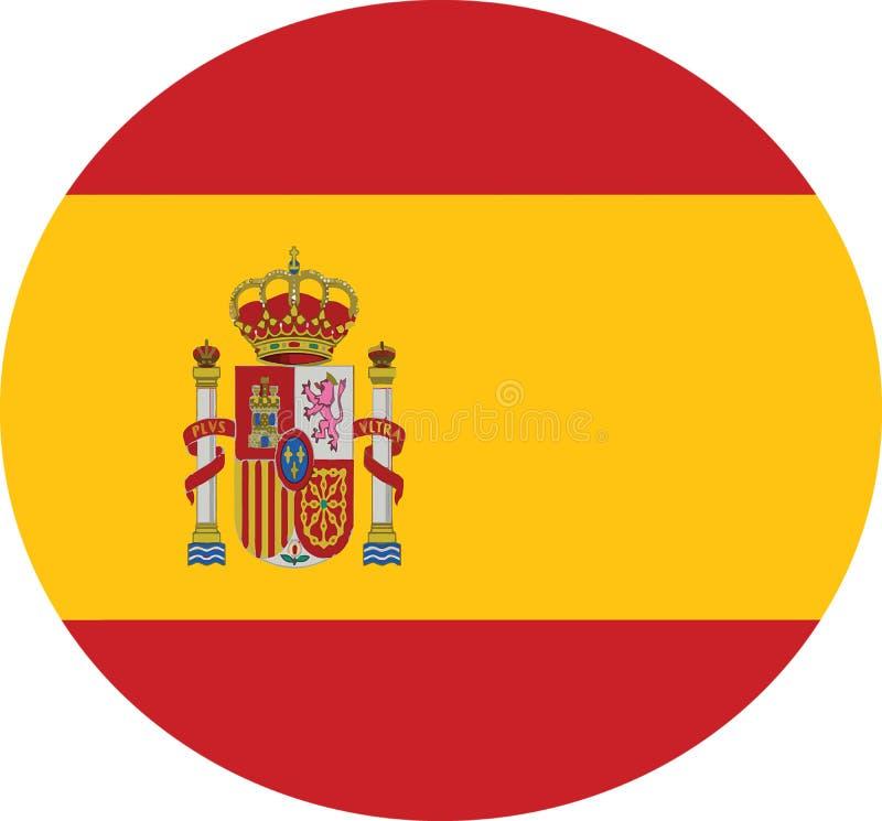 Spanien-Flaggenlandvektor-Landflagge stock abbildung