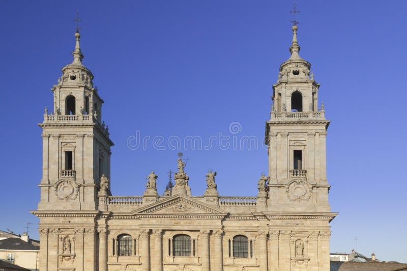 Spanien Galicia, Lugo, domkyrka fotografering för bildbyråer